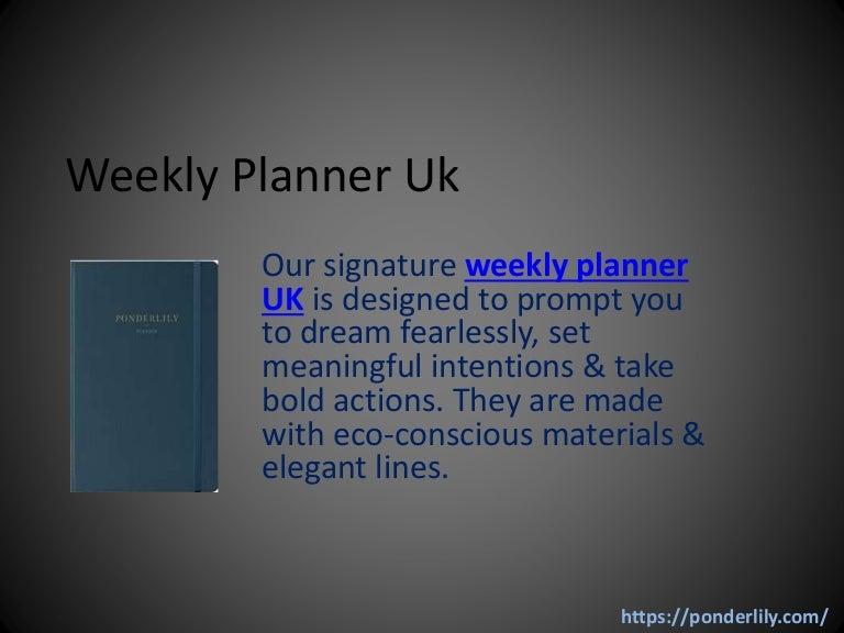 weekly planner uk