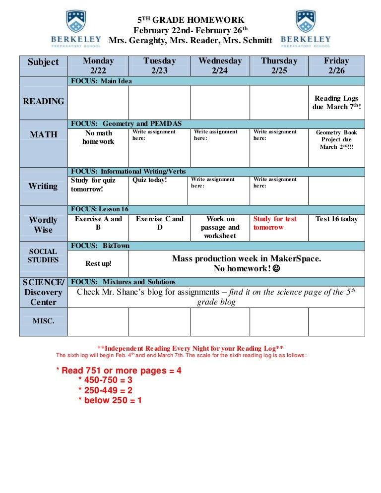 Week of February 22nd