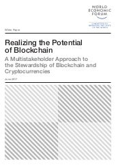 WEF Realizing the Potential of Blockchain
