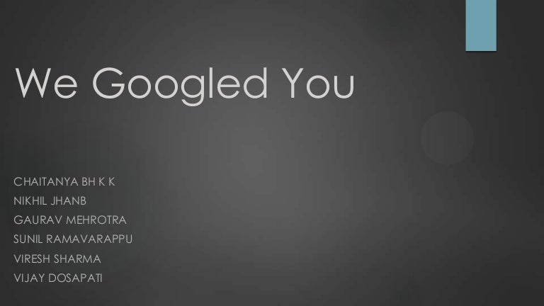 we googled you (hbr case study and commentary)