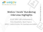 WeGov Bundestag Interview Highlights 2011 @Co:llaboratory