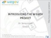 WeGov Generic presentation at the 1st Crossroad Workshop