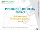 WeGov presentation at Samos 2010 Summit