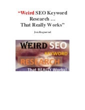 Weird SEO Keyword Research Tools