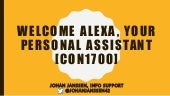 JavaOne: Welcome alexa, your personal assistant [con1700]