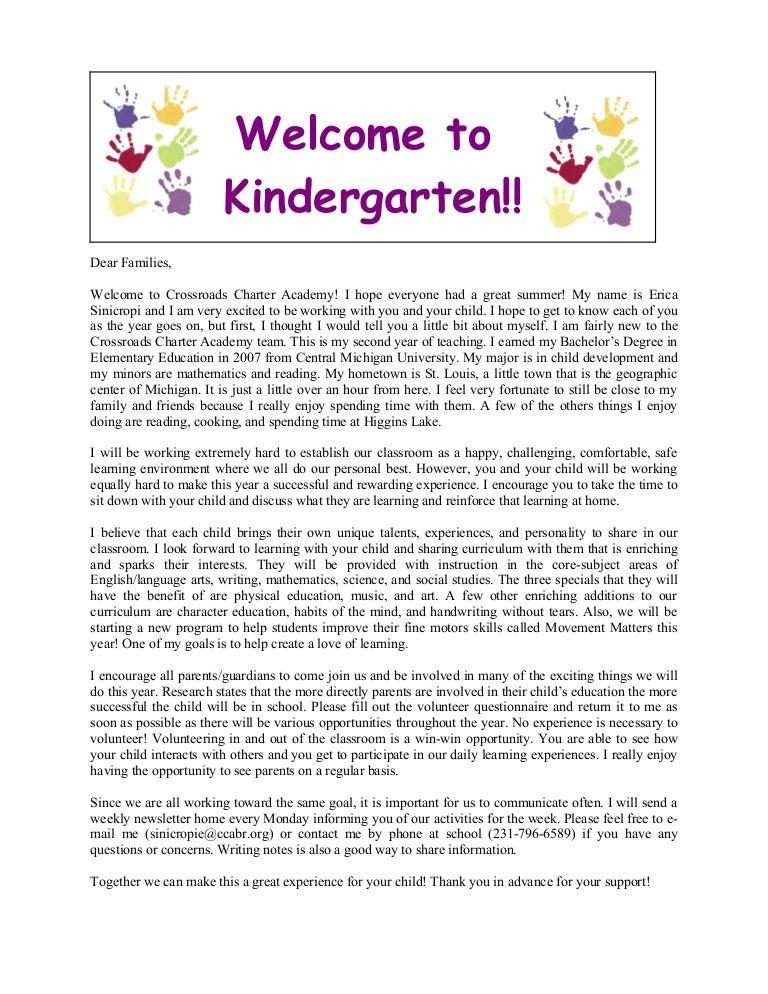 Welcome to kindergarten letter to parents mersnoforum welcome to kindergarten letter to parents altavistaventures Image collections