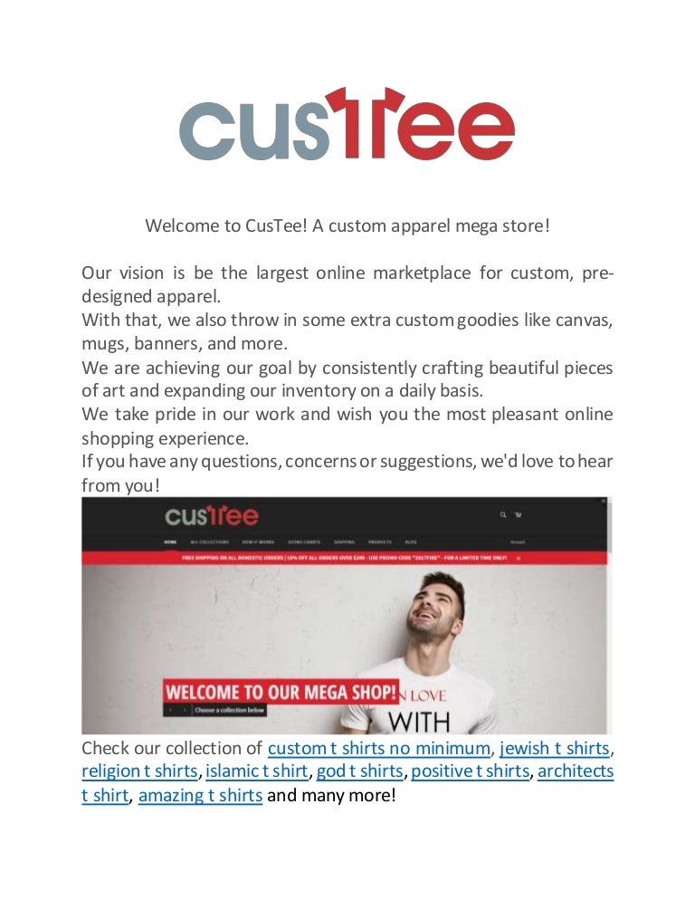 Welcome to CusTee