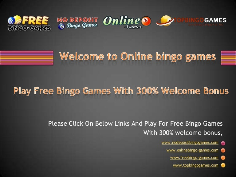 Welcome To Online Bingo Games