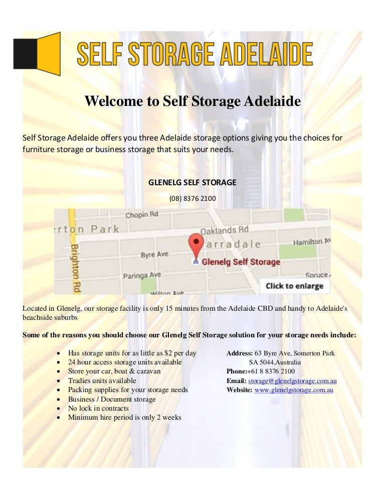 welcometoselfstorageadelaide-160102105956-thumbnail-4.jpg?cbu003d1451732454  sc 1 st  SlideShare & Welcome to Self Storage Adelaide