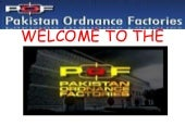 pof pakistan ordinance factory