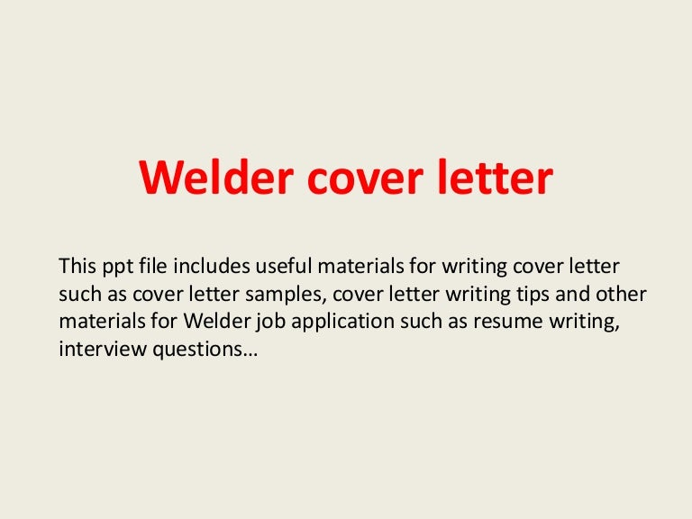 Resume Sample For Welder