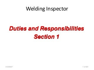 Welding Inspection Cswip