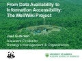 From Data Availability to Information Accessibility: The WellWiki Project