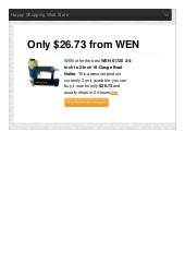 Wen offer the best 61720 34inch to 2inch 18gauge brad nailer only 2673 reviews