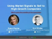 Using Marketing Signals to Identify and Sell to High-Growth Companies