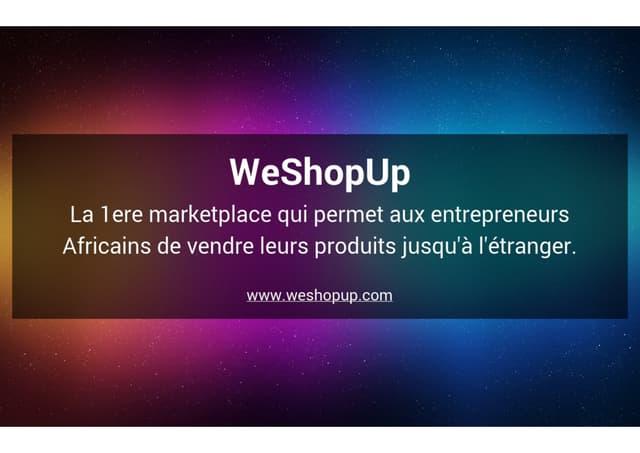 Présentation We shopup - #DigitalThursday #Edition7