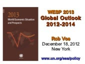 World Economic Situation and Prospects 2013: Global Economic Outlook 2012-2014