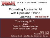 Promoting Access for All with Open and Online Learning