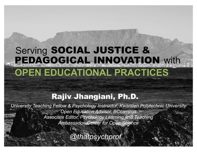 Keynote address at Western University Open Education Day