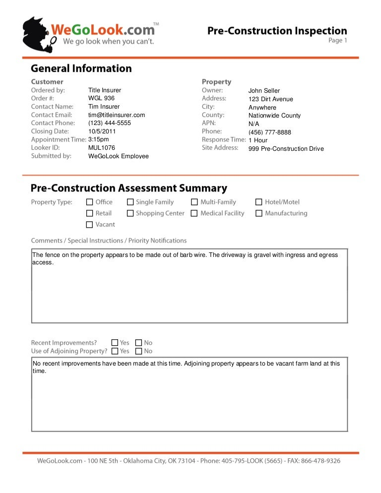 Delighted Site Survey Report Template Ideas  Example Resume Ideas
