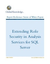 Extending Role Security in Analysis Services for SQL Server