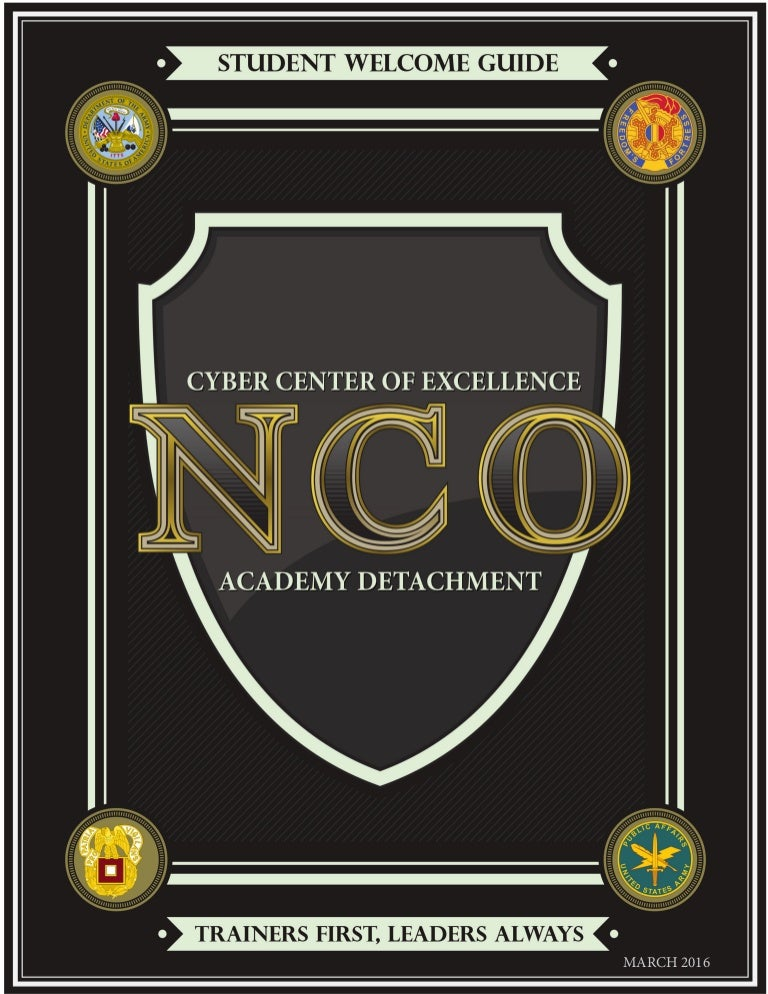 CCoE NCOA Detachment Student Welcome Guide (March, 2016)