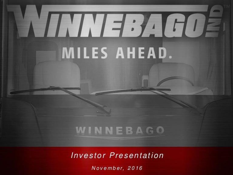 WGO Investor Presentation November 2016 on