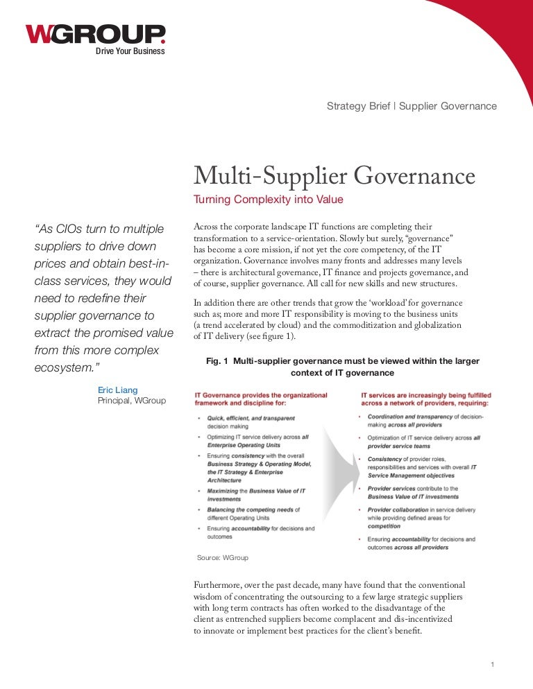 Multi-Supplier Governance