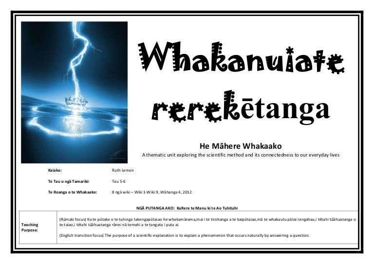 Whakanuia te rerekētanga - Integrated Science plan Year 6-8