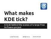 What makes KDE tick?