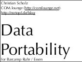 What is Data Portability?