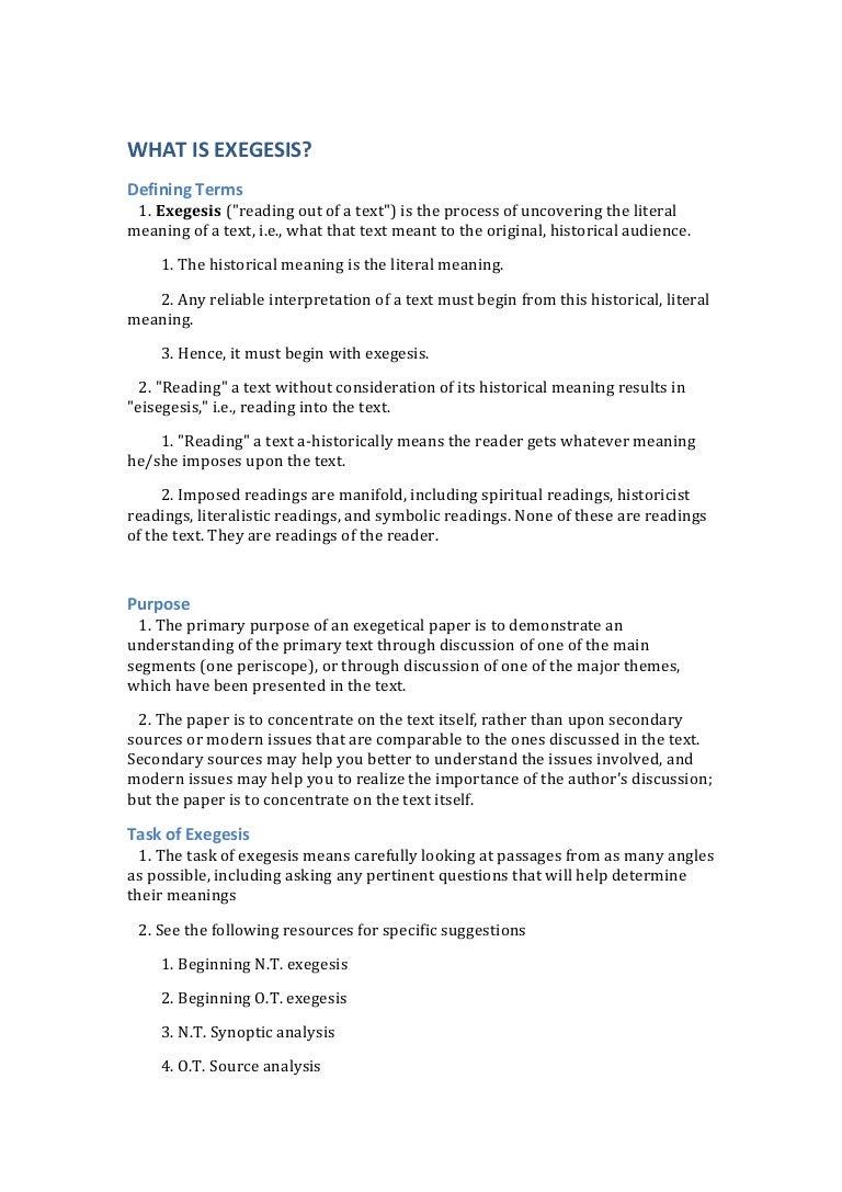 exegetical paper on exodus 3