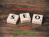 What really matters for seo in 2016