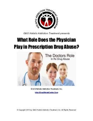 Prescription Drug Abuse - Addiction / Recovery Process