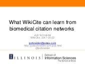 What WikiCite can learn from biomedical citation networks--Wikicite2017--2017-05-22