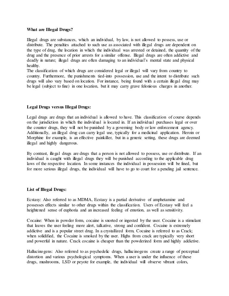 drug addiction and cocaine essay example Drug addiction is something that should not be taken lightly by anyone who has a family member or friend with this issue we often wonder how and what this study has to do with cocaine addiction treatments to improve or reduce harm by (catch) this study is said to investigate possibilities and.