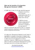 What are the benefits of configuration management database -  (ITIL 4 Foundation)