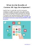 What Are the Benefits of Custom iOS App Development?