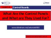What are the Control Panels and What are They Used For -  Luciano L. Antonietti