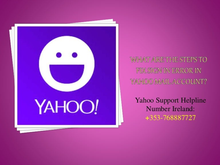 What Are The Steps To Fix Sign In Error In Yahoo Mail Account