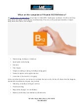 What are the symptoms of Vitamin B12 Deficiency