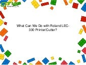 What can we do with roland lec 330 printer