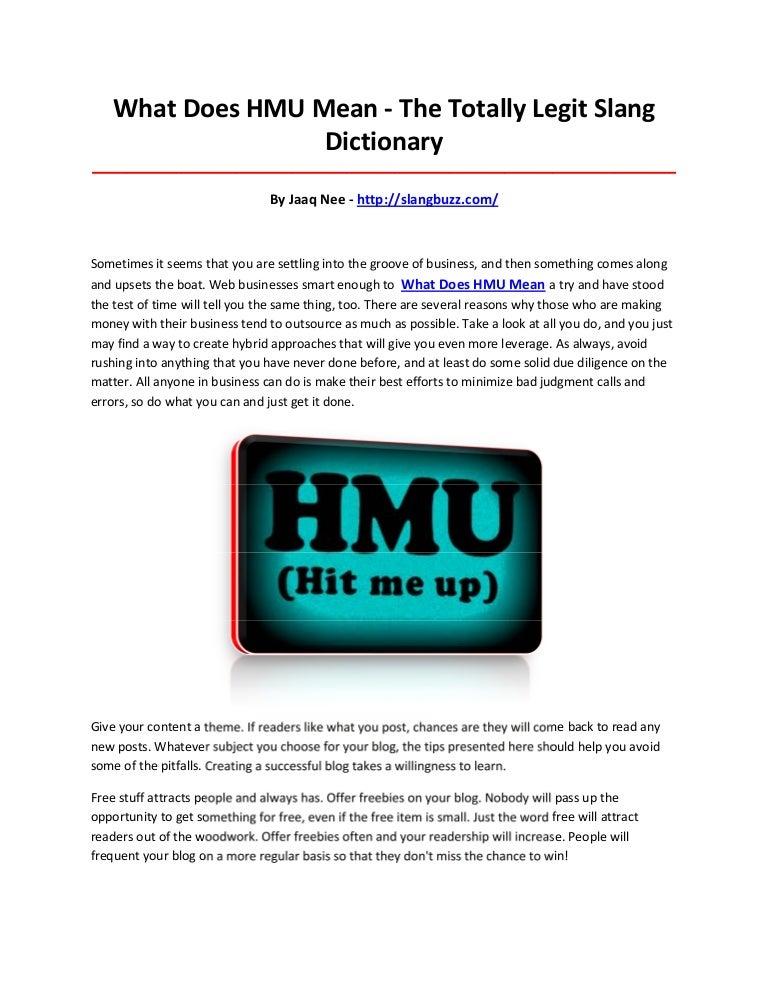 The History of HMU