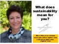 What does sustainability mean for you
