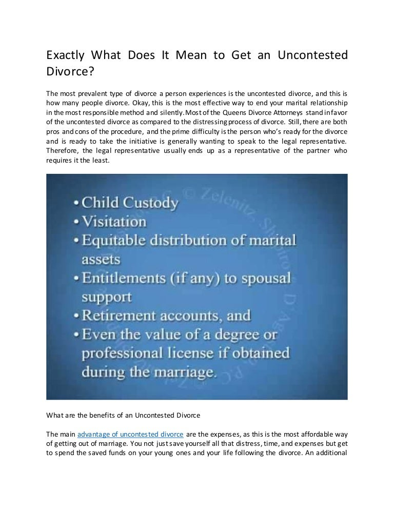 What does uncontested divorce mean for me solutioingenieria Images