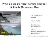 What Do We Do About Climate Change?  A Simple Three-step Plan