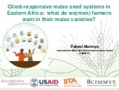 What do women and men farmers want in their maize varieties