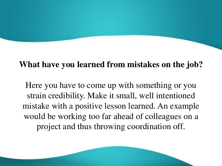 What have you learned from a mistake sample essay