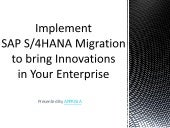 What Innovations Does SAP S4HANA Migration Bring in Your Enterprise