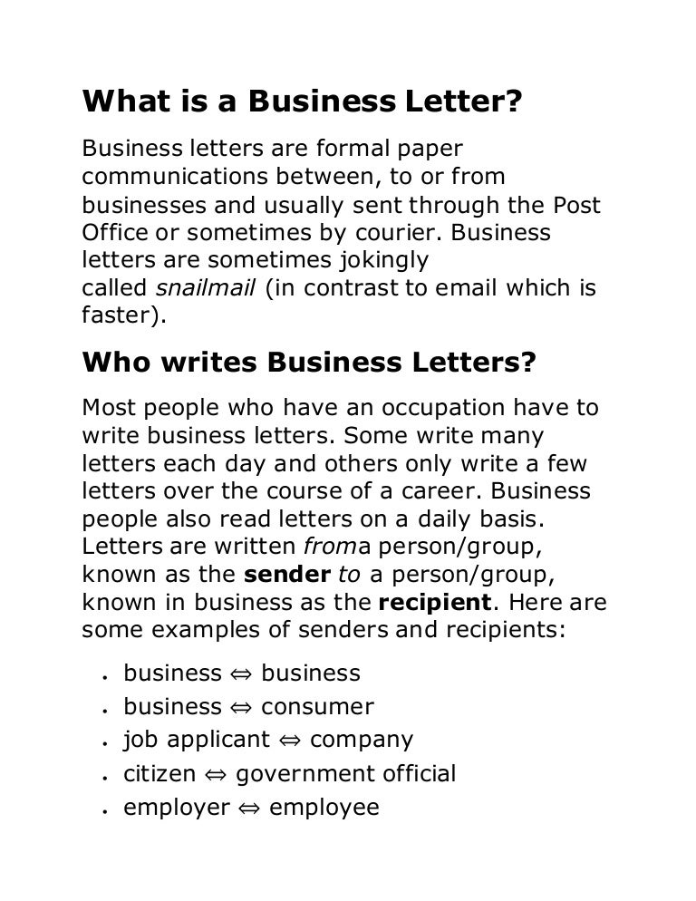 What is a business letter altavistaventures Gallery